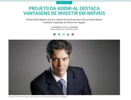 Gazetaweb – Projeto da Ademi-AL destaca vantagem de investir em imóveis